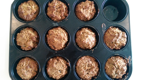 ginger and date muffins 3